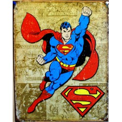 plaque superman sur fond...