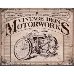 plaque vintage iron...