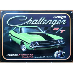 plaque dodge challenger R/T...