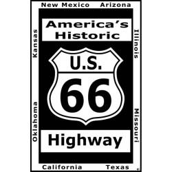 plaque route 66 avec tous...
