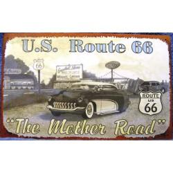 plaque us route 66 mercury...