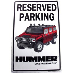 plaque hummer parking h2...