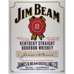 plaque whisky jim beam tole...