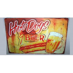 plaque hot dog beer tole...