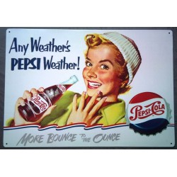 plaque pepsi cola pin up...