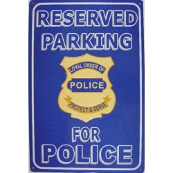 plaque parking for police...