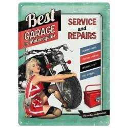 plaque best garage verte...