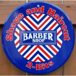 plaque barbe shop ronde...
