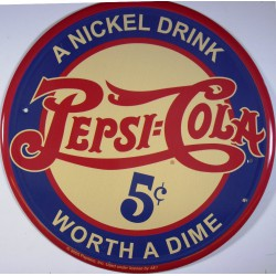 plaque pepsi cola a nickel...