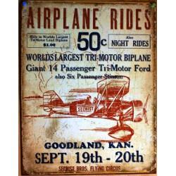 plaque airplaine rides...