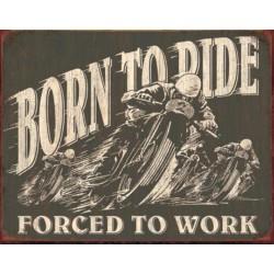 plaque moto born to ride...
