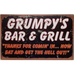 plaque grumpy's bar & grill...