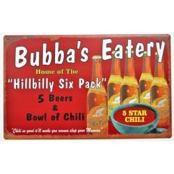 plaque bubba's eatery...