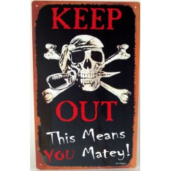 plaque keep out pirate...
