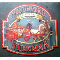 plaque pompier fireman...