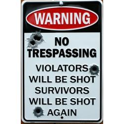 plaque warning no...