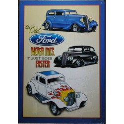 plaque hot rod old ford...