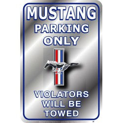 plaque ford mustang parking...