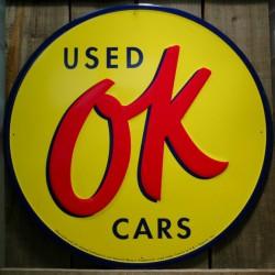 plaque OK used cars 30cm