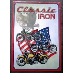 plaque moto classic iron...