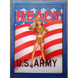 plaque pin up ready US army...