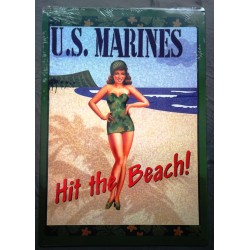 plaque pin up US marines...