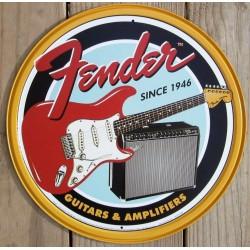 plaque fender ronde guitare...