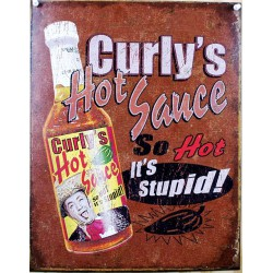 plaque curly's hot sauce so...