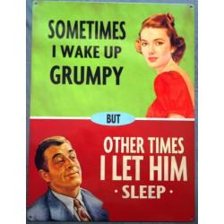 plaque grumpy tole deco...