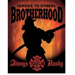 plaque pompier always ready...