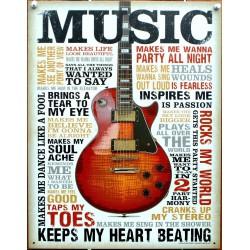 plaque music et guitare...