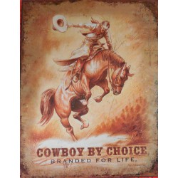 plaque cowboy by choice...