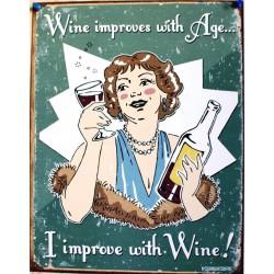 plaque humour wine et femme...