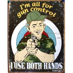 plaque humour gun control...