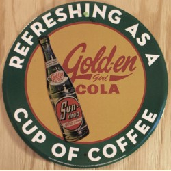 plaque golden cola verte...