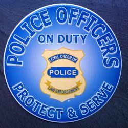 plaque police americaine...