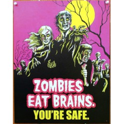 plaque cerveau zombie eat...