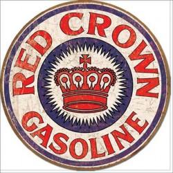 plaque red crown gasoline...