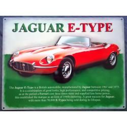 plaque jaguar type E...