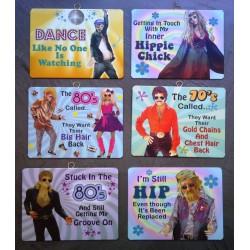 lot de 6 plaques dance 70's...