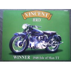 plaque moto vincent HRD...