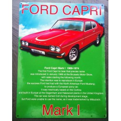 plaque ford capri rouge...