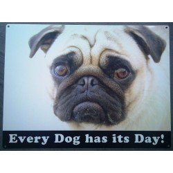 plaque chien buldogg every...