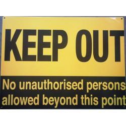 plaque keep out noir et...