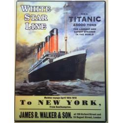 plaque titanic to new york...