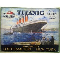 plaque titanic the queen of...