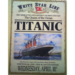 plaque titanic style...