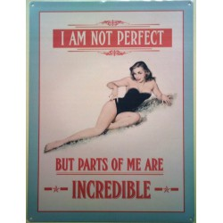 plaque pin up i am not...