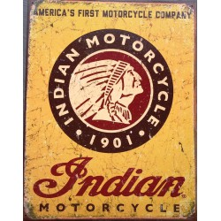 plaque indian logo jaune...