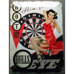 plaque pin up robe rouge et...